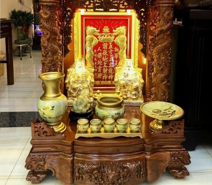 Vị trí nên lựa chọn đặt bàn thờ Thần Tài – ông Địa trong cửa hàng, công ty